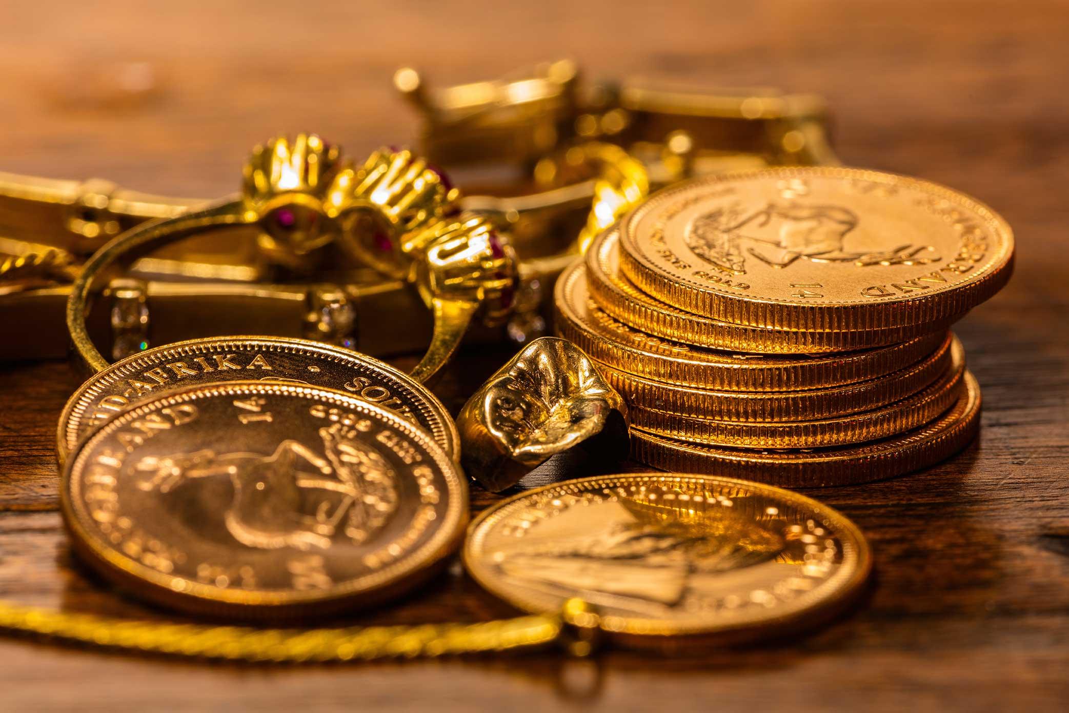 monedas oro en Bilbao